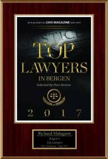 Richard Malagiere Named to Bergen County's 2017 Top Lawyers List